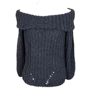 MIRACLE USA knit off shoulder sweater M/L